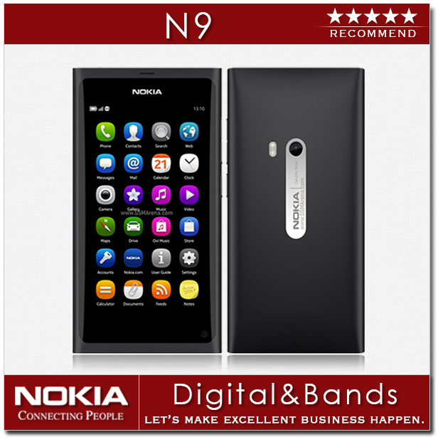 "Original Nokia N9 Unlocked Mobile Phone 16GB ROM 3.9"" HD 8MP MeeGo OS 3G GPS Wifi Unlocked Phones Refurbished(China (Mainland))"