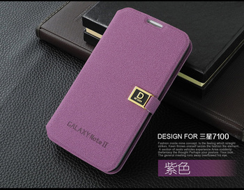NEW Luxury PU Flip Leather Case Cover For Samsung Galaxy Note II 2 N7100