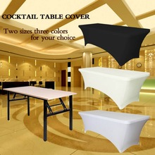 Wedding Table Cloth Spandex Tablecloths Rectangular Cocktail Table Cover Banquet Hotel Table Covers Party Supplies Home Textile(China (Mainland))