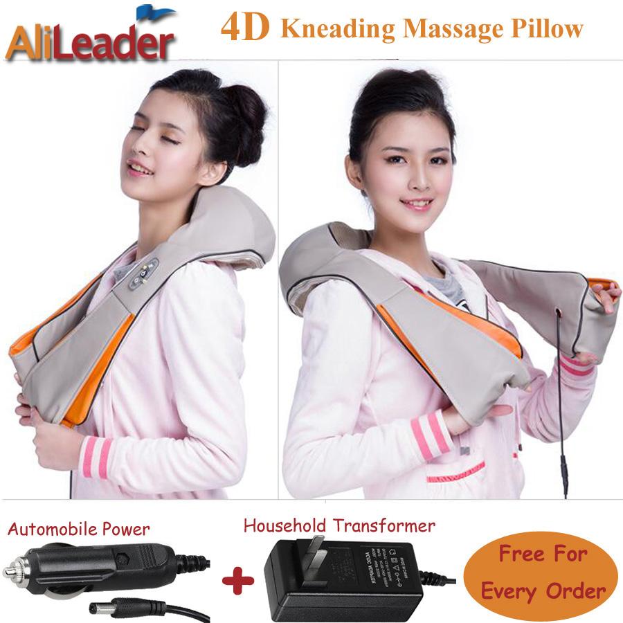 Alileader Infrared Heating Massage Pillow Simulated Human Shiatsu Massage Machine Electric Neck Back Body Massage And Relaxation(China (Mainland))