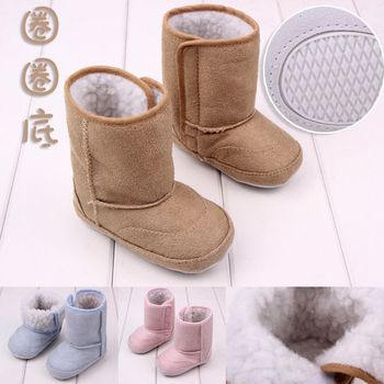 J.G Chen Autumn Winter Baby Boots Warm Cotton Baby First Walkers For Baby Boys & Girls 0-12M New-Born Baby Soft Bottom 11-13CM