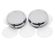 2000X 42mm Round Pill Box With Epoxy Sticker-Blank Compartment Pill Box Organizer Case #PY03S(China (Mainland))