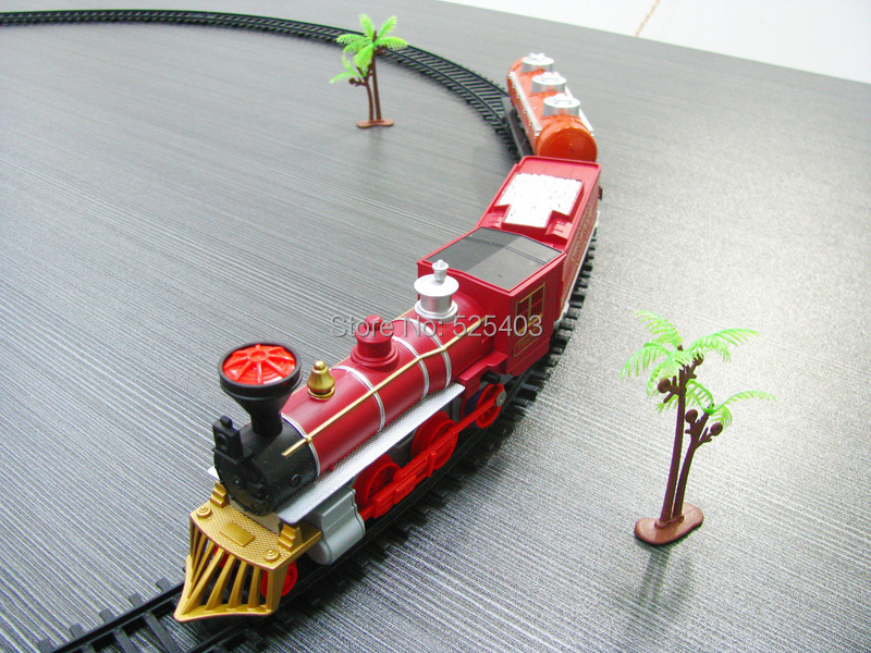 Kids electric Railway train Toys Classical Enlighten Train Track 17 pcs/set Model Railroad 1/87 Toys Train Electric Rail Car(China (Mainland))