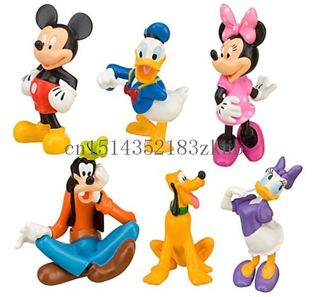 Set Cut Mickey Mouse Minnie Donald Duck Clubhouse PVC Figure - Mingzhe SunShine store