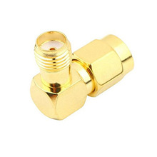 Buy 50Pcs Brass Adapter RP.SMA Male Jack SMA Female Jack Screw Thread Connector 90 Degrees Right Angle RF Coaxial Connector for $42.56 in AliExpress store