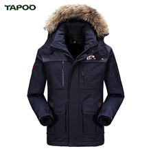 Tapoo Top Quality Warm Men's Bio Down Jacket Waterproof Casual Outerwear Thick Medium Long Coat Men Fashion Overcoat Outerwear(China (Mainland))