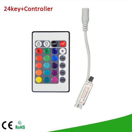 1Pcs DC 12V 24 Keys IR Remote Controller / Control RGB Colors Dimmer For SMD3528 SMD5050 LED Strip light(China (Mainland))