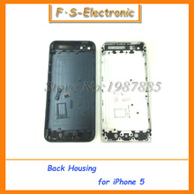 Free Shipping Replacement Part Chassis Middle Frame Housing Back Battery Cover Middle Frame Metal Back Housing For iPhone 5 5s