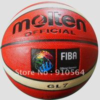 Free shipping Molten GL7 Basketball, official size and weight free with ball pump, net bag and pins