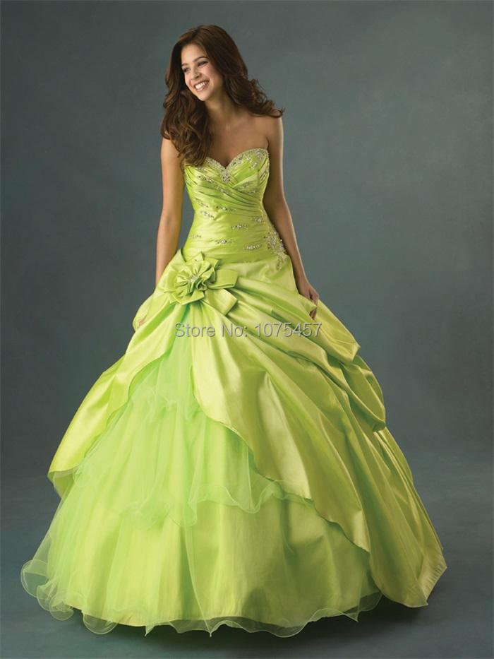 New Arrival Lime Green Quinceanera Dresses 2015 Applique ...