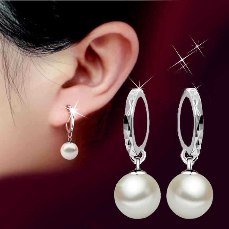 Гаджет  fashion sweet cute opal round stud earrings None Ювелирные изделия и часы