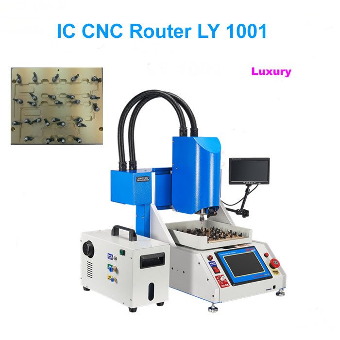 Factory price, IC CNC Router Luxury kit = CNC Milling Engraving Machine + vacuum cleaner + CCD System for iPhone IC Repair(China (Mainland))