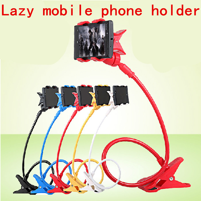 360 degree Double chuck Flexible Arm mobile phone car holder stand Long Lazy People car Bed Desktop tablet mount(hengfeng211)(China (Mainland))
