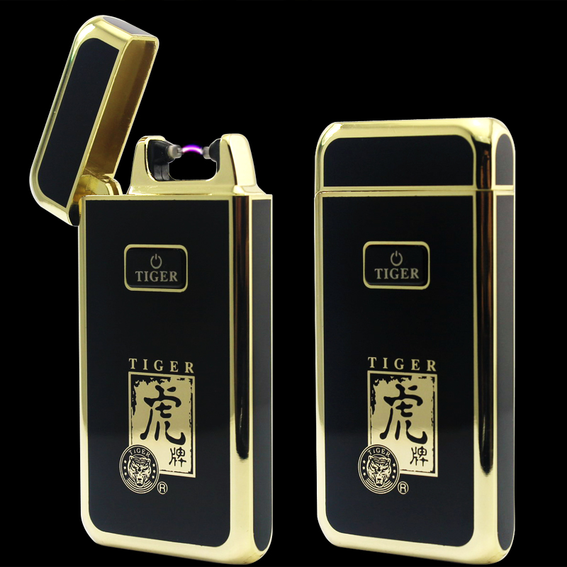 Creative lighters arc lighter charge current ultra-thin high-grade USB pulse male wind personality electronic cigarette lighter(China (Mainland))