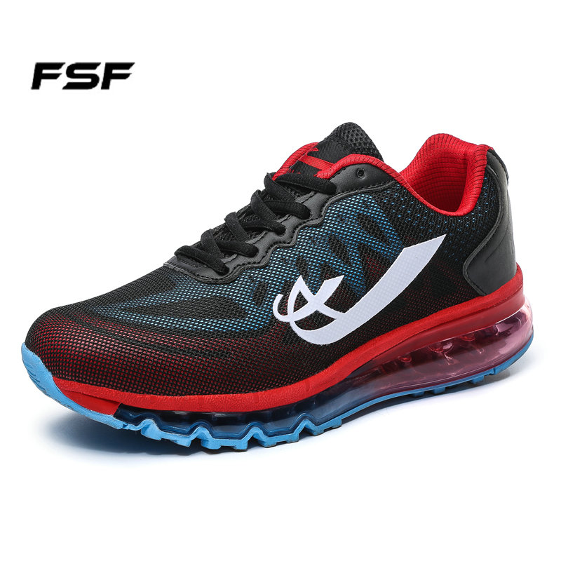 fsf running shoes lace up sport shoes for cushion