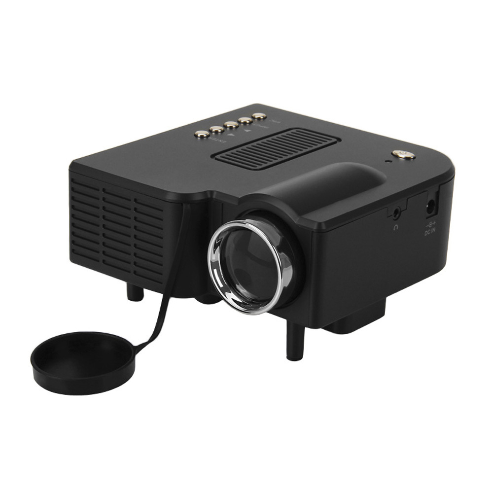 2015 new black 1920 1080p mini projector led projecteur hdmi led projetor video game digital. Black Bedroom Furniture Sets. Home Design Ideas