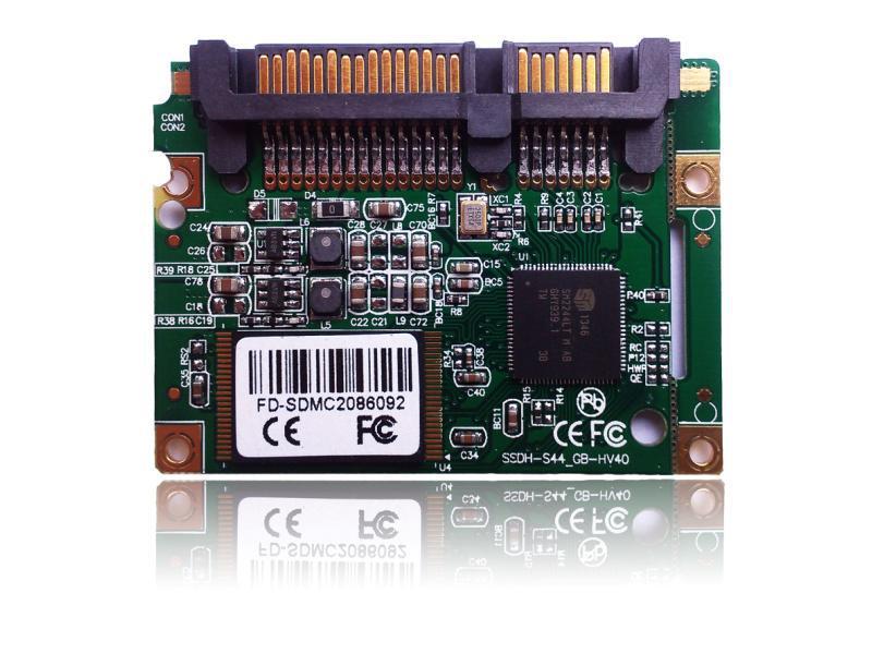 Half slim ssd module 32gb 64gb sataIII MLC solid state drive for notebook computer flash drive ssd hard drive(China (Mainland))