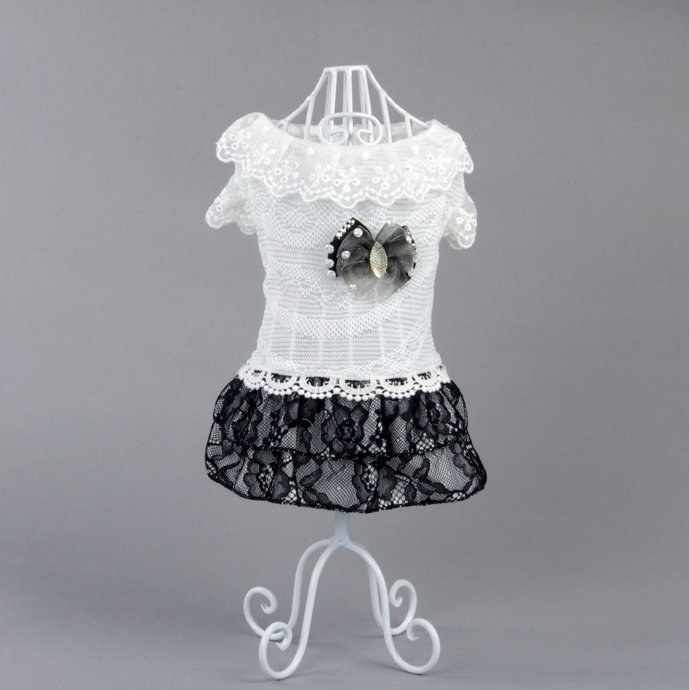 The new 2015 high-grade summer dog clothes The butterfly lace skirt Pet clothing wholesale(China (Mainland))