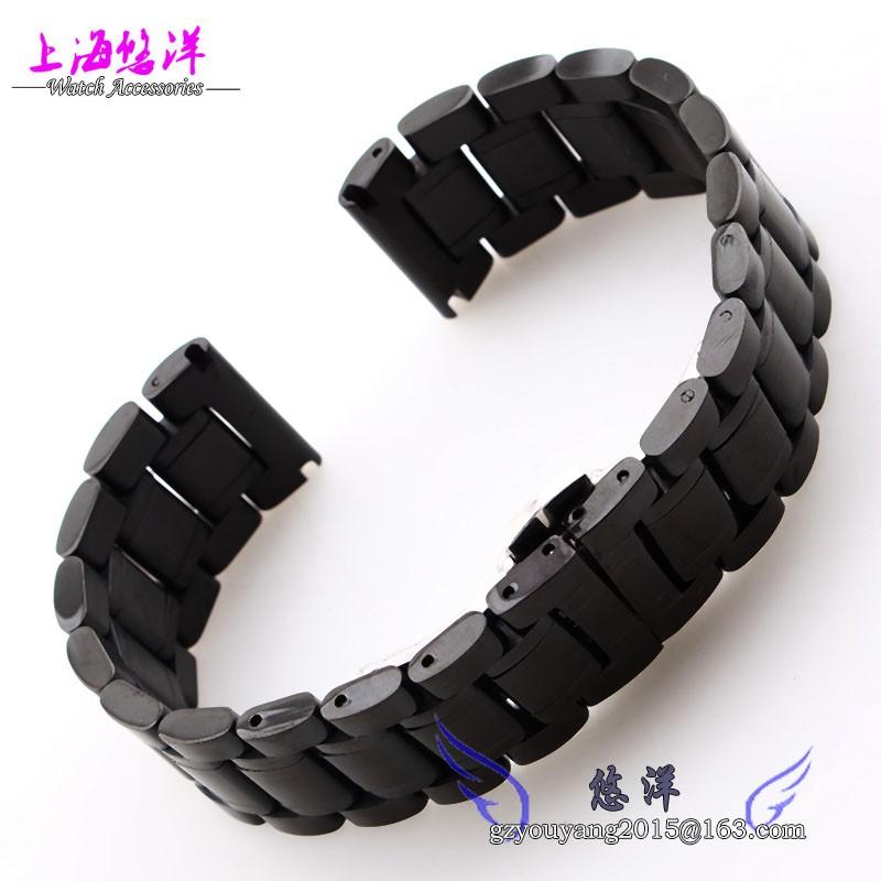 Прочной нержавеющей стали для крепления ремешка стальной ленты адаптер часы 22 мм черные мужчины и женщины