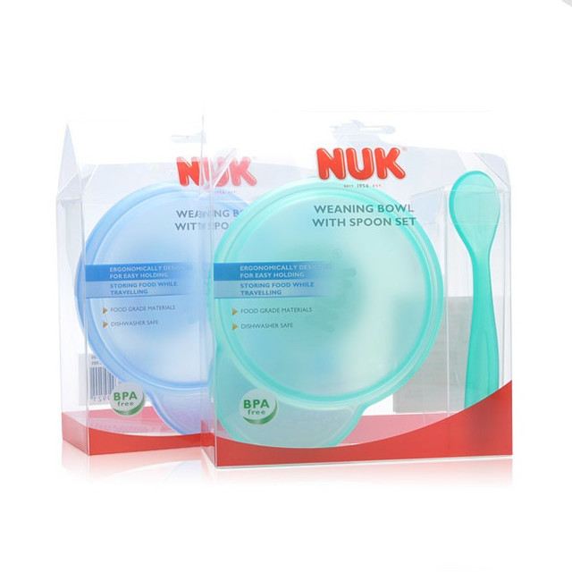 Nuk baby bowl spoon tableware baby bowl spoon set spoon supplementary food bowl baby bowl spoon dinnerware set