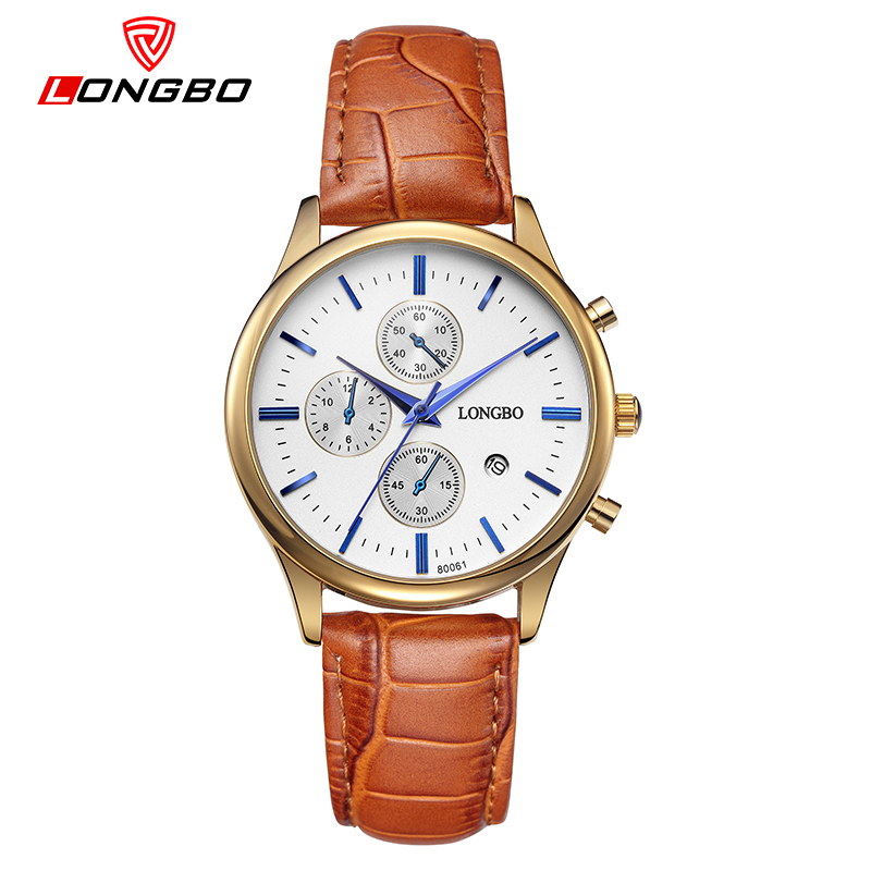 LONGBO Lovers Quartz Watch Simple Style Waterproof Wrist Watches Leather Watchbands Fashion And Casual Men And Women Wife Watch(China (Mainland))