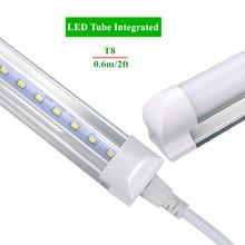 Integrated LED Tube T8 2ft 10W Led Bulbs Tubes T8 48LEDs SMD2835 Super Bright 1000lm Led Fluorescent Lights AC85-265V CE FCC(China (Mainland))