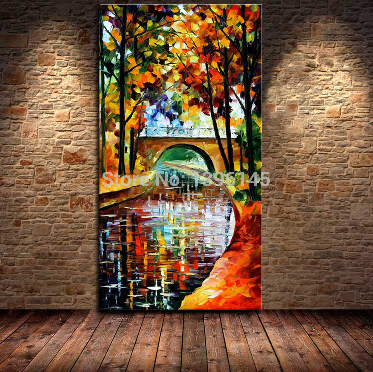 store product BA Oil Painting  Hand painted Modern Design Knife Canvas Landscape Paintings On