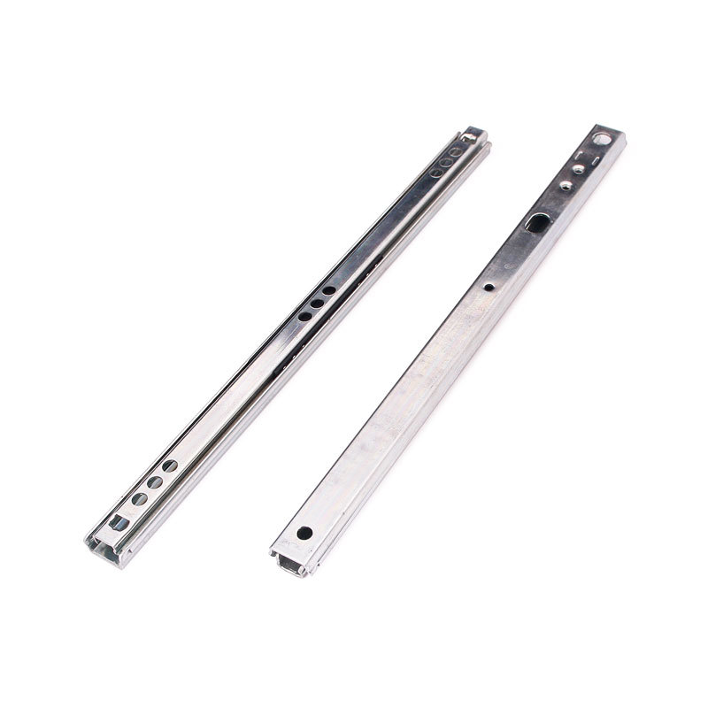 New 2 Fold Telescopic Metal Ball Bearing Drawer Runners Slides Rail #62623(China (Mainland))