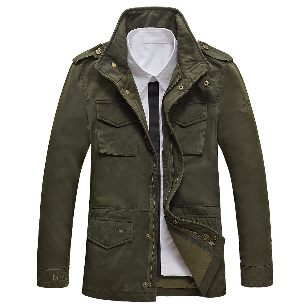 2014 afs jeep men's jacket of spring cotton jacket(China (Mainland))