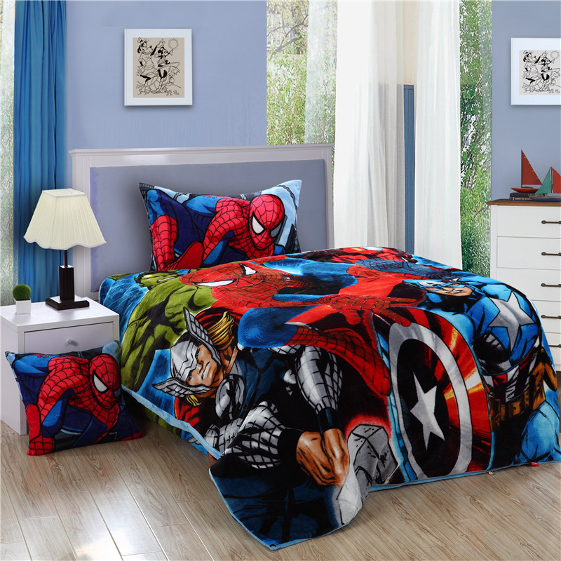 Spiderman Bedding Set Spider Man Kids Twin Size Flannel