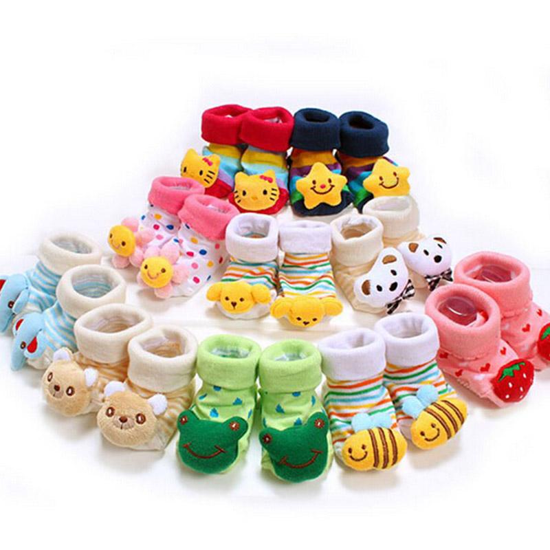 8 Style Lovely Cute Newborn Baby Socks Animal Cartoon Doll Infant Model Anti-slip Boys Girls 14-203 - Kids' Happy store
