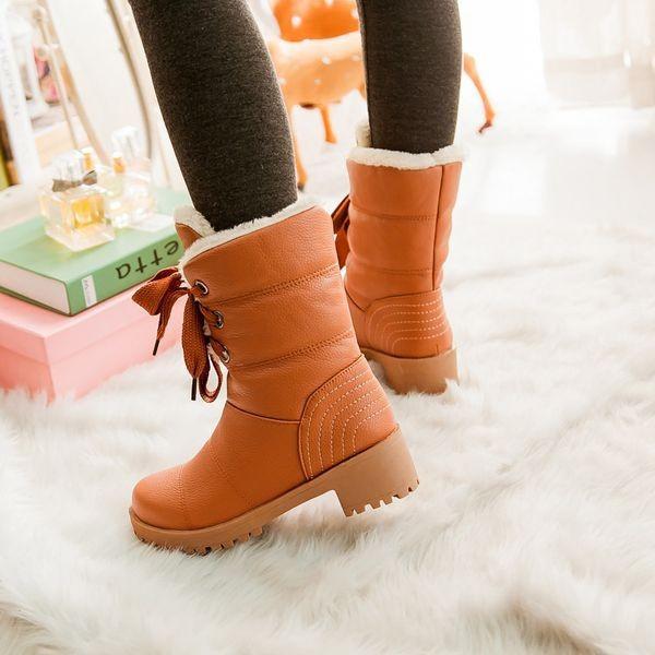 ซื้อ พลัสSize34-43 2016ผู้หญิงรองเท้าฤดูหนาวรองเท้าหิมะกันน้ำขี่4สีสบายๆของผู้หญิงรองเท้าครึ่งSBT1285
