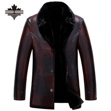Mu Yuan Yang PU Jackets Coats Winter Men's Leather Jackets Big Size Faux Leather Jackets Thicken Overcoat For Male Clothing(China (Mainland))