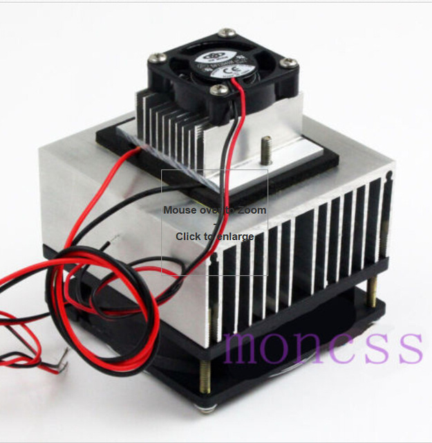 Thermoelectric Peltier Refrigeration Cooling System Kit Cooler for DIY TEC-12706 mini air conditioner free shipping J10-001(China (Mainland))