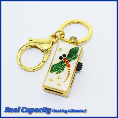 free shipping pen drives 32gb metal insect jewelry mini usb flash drive key chain pendrive dragonfly 4gb 4gb 16gb 32gb(China (Mainland))