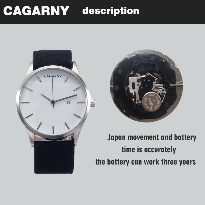 top luxury brand cagarny quartz watches for men watch vogue leather watchband dropshipping  22 (6)
