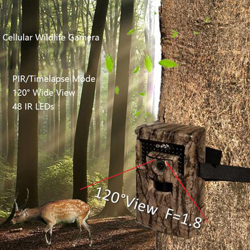 Scouting Hunting Camera 120 Degree Infrared Wide Lens Trail Forest Hunting MMS GPRS Camera + Wireless Remote Control(China (Mainland))