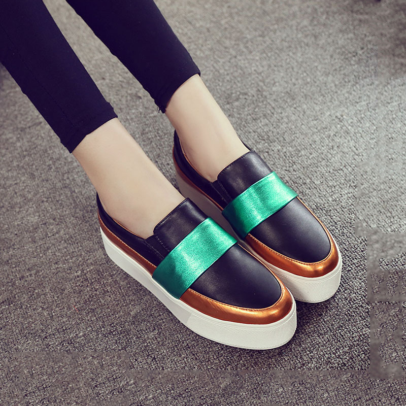 New Women Fashion Loafers Flats Shoes Woman Casual Slip on Platform Shoes Ladies Casual Flats Heels Women Shoes Casual Canvas<br><br>Aliexpress