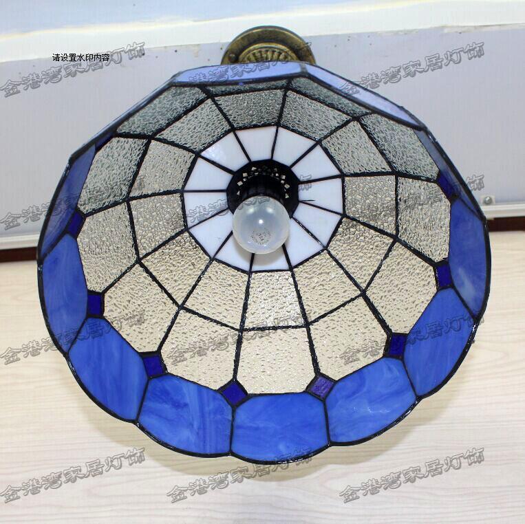 Promotion Tiffany Lighting Lamps Simple Lattice Hallway Lamp Bar Office  Mediterranean Bedroom Restaurant Pendant Lamp DF12   Us469