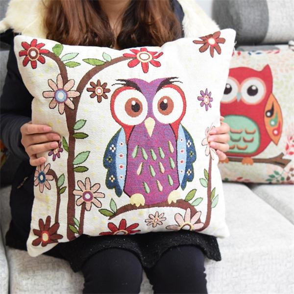 0119 Clever owls kids bedding set cotton linen comforter bedding sets pillowcase new home decoration kids