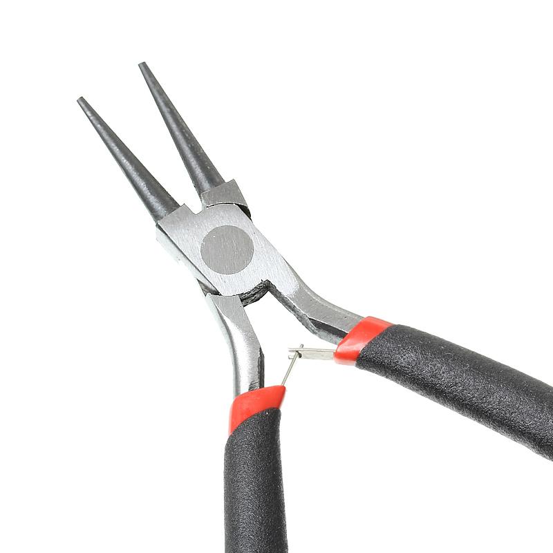 "Stainless Steel Needle Nose Pliers Jewelry Making Hand Tool Black 12.5cm(4 7/8""),1 Piece (B33699)8seasons(China (Mainland))"
