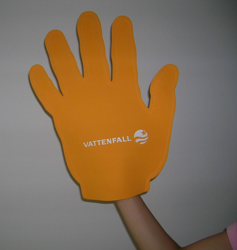 Custom made FIVE FINGER match fan EVA foam hand finger cheering sample 100pcs(China (Mainland))