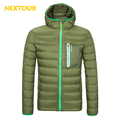 NEXTOUR Winter Down Coat Men Solid color White Duck Down Jacket Light Hiking Camping Climbing Leisure