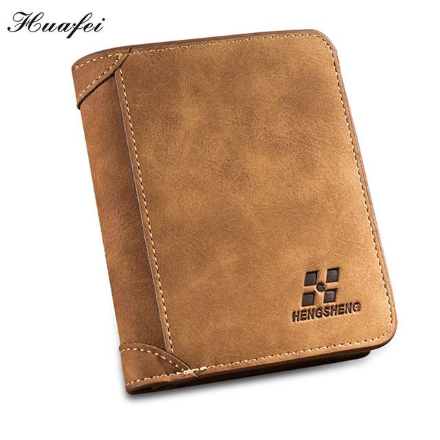 Huafei Новый стиль мужчины бумажник мода марка бумажник мужчины кошелек нубука кожа ...