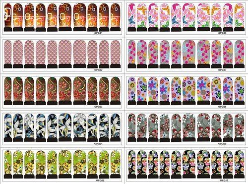 Free shipping Best sell nail sticker full nail water decal nail art sticker