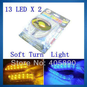 FG36 13 LED X 2 Car Mirror Light 12V LED Soft Turn Signal Light Waterproof Heatproof Durable