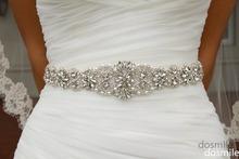 2016 Crystal sashes for wedding Bridal Rhinestone Belt Wedding Accessories Beaded Sash(China (Mainland))