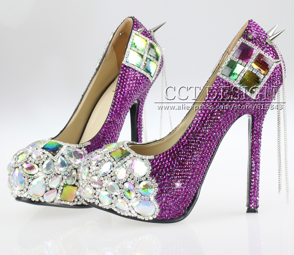 2014 Sexy Women Purple Crystal