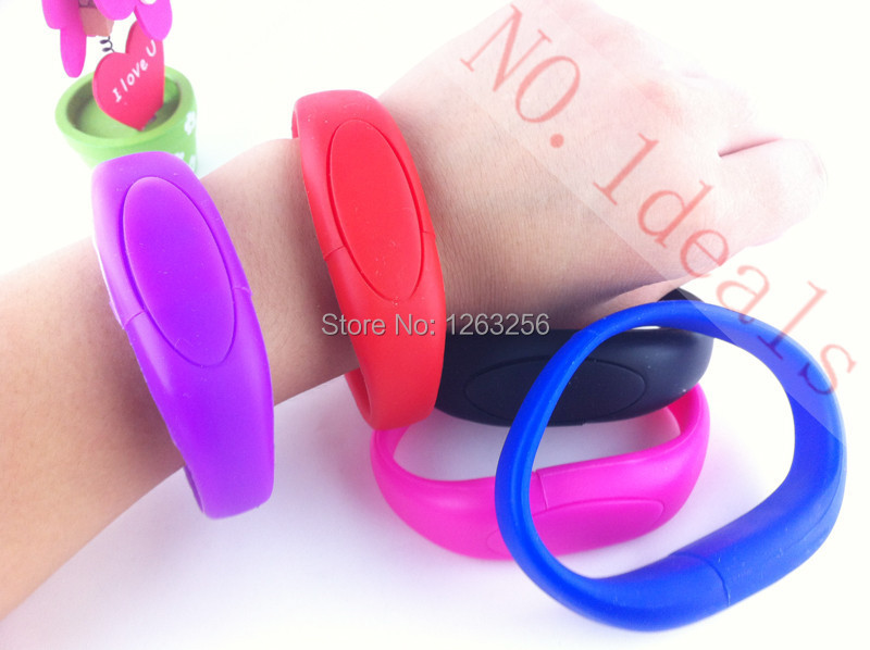 100% real capacity colorful bracelet wrist band USB Flash drive silicone USB Stick Pen Drive 2GB 4GB 8GB 16GB 32GB 64GB(China (Mainland))