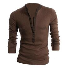 MYPF T Shirt Men Long Sleeve Autumn New STYLE 2016 Spring Mens Brand Clothing Casual Slim V-neck Cotton Tshirt Homme Tees